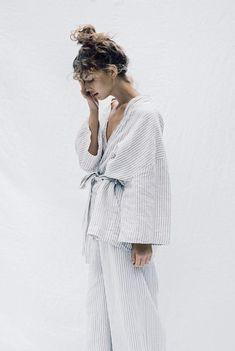 01 grey stripe sleepwear the 01 grey stripe loungewear setthe 01 grey stripe loungewear set Loungewear Set, Sleepwear Sets, Beige Outfit, 80s Fashion, Womens Fashion, Fashion Tips, Color Fashion, Petite Fashion, Hijab Fashion