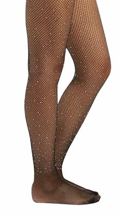 f635671b51931 Sexy Jeweled Sparkly Diamond Fishnet Stockings High Waist Tights Shiny  Rhines... #fashion