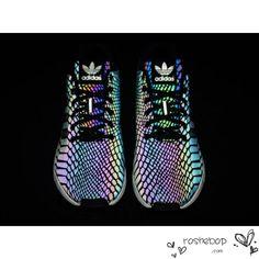 Adidas ZX Flux Xeno Reflective Limited 3M Hologram B24441 Black