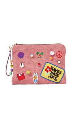 Venessa Arizaga Have A Nice Day Clutch Bag