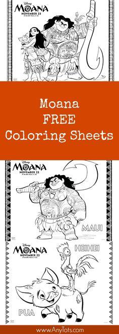 Free Moana Coloring Sheets. Free Printable Moana Activity Sheets. Enjoy this and other Moana Free printable.