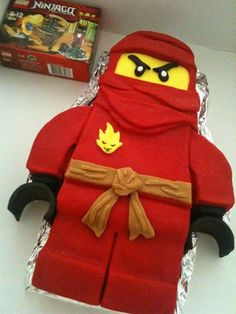 Ninjago Lego guy cake @Amy Lyons Jordan. Can I hire you to make huddys bday cake..do you think you could make this? He would freak out