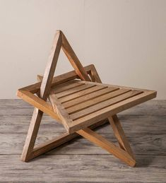Meditation chair made of mango wood- Meditationsstuhl aus Mangoholz Mango wood meditation chair