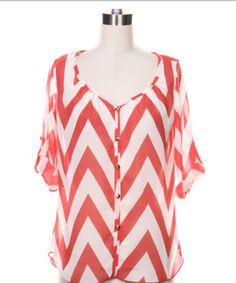 flowing patterned shirt: pair with well cut jeans Work Fashion, Teen Fashion, Fashion Outfits, Fashion Clothes, Coral Chevron, Short Summer Dresses, Couture Outfits, Cut Jeans, Dress Skirt