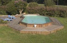 Above ground pool pool beach backyard pinterest for Construire deck piscine