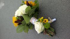 Helianthus, avalanche rose, vimini chrysantemum, leucodendron, santini