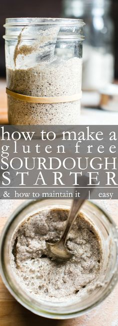 Making a gluten free sourdough starter couldn't be easier. Start with a few simple ingredients, a little time and patience, soon you'll be making delicious homemade gluten free sourdough bread, pancakes, and waffles! Gluten Free Sourdough Bread, Sourdough Bread Starter, Gluten Free Pancakes, Sourdough Recipes, Gluten Free Bread Maker, Buckwheat Sourdough Bread Recipe, Gluten Free Homemade Bread, Sourdough Pancakes, Yeast Bread