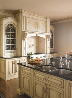 Nancy Scott © 2009 Habersham French Country Kitchen - Beautiful! Beautiful Kitchens Cool Kitchens & 114 Best French Country Kitchen images | Kitchens Diy ideas for ...