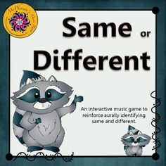 Fun and engaging elementary music game to reinforce recognizing same and different sounds with your students in music. Interactive music education resource!