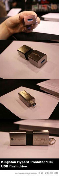 1 Terabyte thumb drive by Kingston.