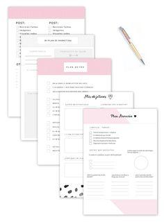 Recibe tu Kit de Bienvenida para comenzar ilusionada+organizada! #imprimibles #gratis #organizacion