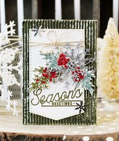 Season's Greetings Card by Melissa Phillips for Papertrey Ink (September 2017)