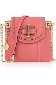 Precious small crossbody bag by #milly The bamboo detailing makse it stand out from other similar shapes