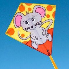 Милый воздушный змей Ромб Мышка с сыром в интернет-магазине http://kite.net.ua/