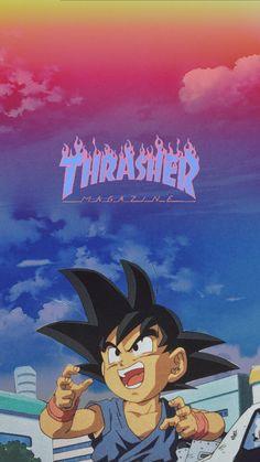 Thraser x goku iPhone wallpaper