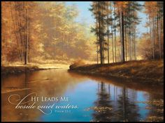 AUTUMN CREEK ART PRINT by at American Christian Gift www.americanchristiangift.com