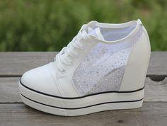夏季新品 水钻网纱女内增高鞋 休闲鞋女鞋 厚底松糕鞋 十厘米-淘宝网 Sneakers, Shoes, Fashion, Tennis, Moda, Slippers, Zapatos, Shoes Outlet, Fashion Styles