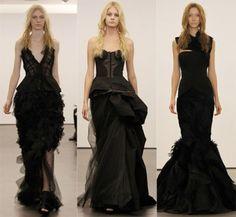 black wedding dress  Vera Wang