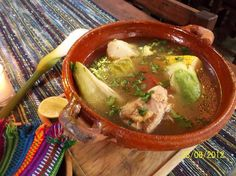 Caldo de gallina guatemalteco Guatemalan chicken broth