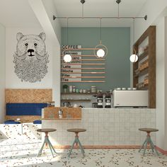 Sumatra Coffee Roasters - Onto Design Studio Coffee Bar Design, Coffee Shop Interior Design, Modern Interior Design, Coffee Cafe Interior, Pastry Shop Interior, Bakery Interior, Cafe Shop Design, Small Cafe Design, Small Coffee Shop