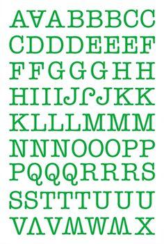 "Alphabet Sticker ""Maria"" – grün (Basis)"