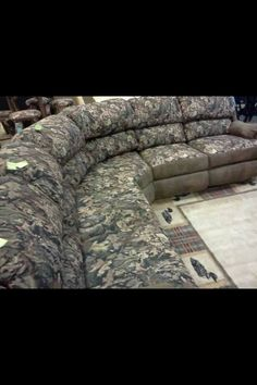 Chaise Lounge Sofa Who would love to have this in their home Camo sectional from Catnapper Living room Pinterest Camo Living rooms and House