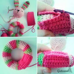 50 Ideas Crochet Bebe Sonajero For 2019 Crochet Blanket Border, Crochet Scarf Easy, Crochet Headband Pattern, Crochet Bunny, Crochet For Kids, Crochet Animals, Free Crochet, Crochet Gifts, Crochet Toys