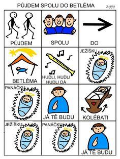 Pro Šíšu: Pujdem spolu do Betlema Music For Kids, Montessori, Advent, Playing Cards, Language, Education, Czech Republic, Autism, Playing Card Games