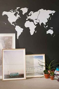 $40 World Map Wall Decal - UrbanOutfitters.com: Awesome stuff for you & your space