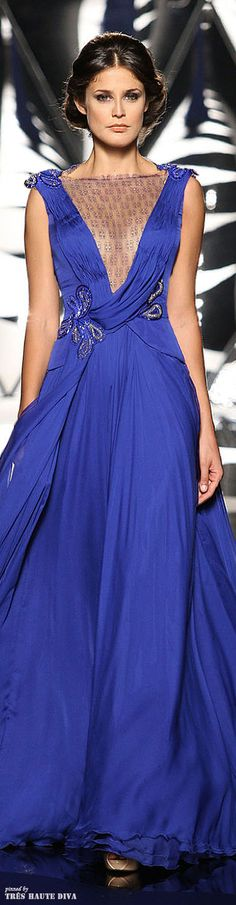 Mireille Dagher Fall/Winter 2013/14..... ❥❥The Lady in Royal Blue❥slcj❥❥♐︎
