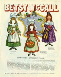 Vintage July 1970 Magazine Paper Doll Betsy McCall Writes a Letter From France