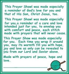 Prayer Shawl Blessing