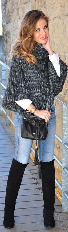 This Is The Best by Te Cuento Mis Trucos 2013 ~ This is my favorite way of dressing! What an attractive sweater!!!!