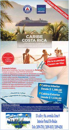 ¡¡¡APROVECHA A VIAJAR EN CRUCERO POR EL CARIBE SIN VISA!!! ¡¡¡RESERVA YA PARA NO QUEDARTE SIN LUGAR DENTRO DEL CRUCERO!!! Agencia de viajes Nissi visítanos interior de Portal de Bodas Guatemala