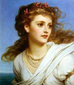 Miranda by Frank Dicksee 1878  ~ Pre-Raphaelite Art Archive