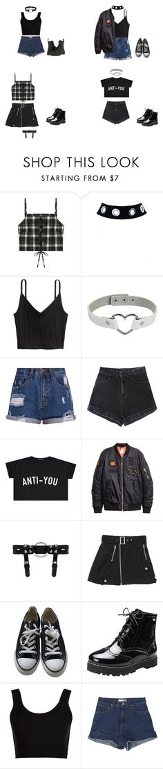 """whistle / Blackpink"" by alleymayy on Polyvore featuring Converse, Calvin Klein Collection, StyleNanda and Dr. Martens"
