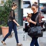 Miranda Kerr's Leopard Loafers, Skinny Jeans and Catwalk Sunglasses