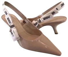 Get the must-have pumps of this season! These Dior Nude J'adior Slingback Patent Heels Pumps Size EU (Approx. US Regular (M, B) are a top 10 member favorite on Tradesy. Patent Heels, Slingback Shoes, Nude Heels, Pumps Heels, Shoe Box, Sale Items, Shopping Bag, Dior, Footwear