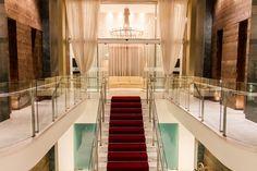 Staircase of the GDM Megaron Luxury Hotel. Heraklion, Crete, Greece.