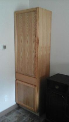 Unfinished Assembled 24 X 84 X 18 In. Pantry/Utility Kitchen Cabinet In Oak  UCDR2484OHD At The Home Depot   Mobile