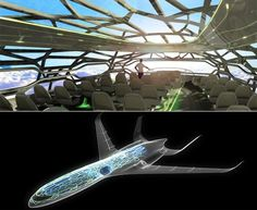 Airbus has unveiled the futuristic design of a transparent plane that will come around 2050 for panoramic views. The plane is designed in such a way that the flyers would be able to see through the cabin and the roof.