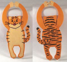 Tiger Door Hanger Nursery Door Hanger Tiger by DidiLouCrafts