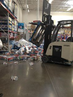 Wouldn't have happened if they had a pallet racking inspection system in place.