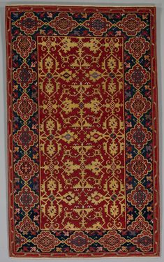 Classical Turkish Carpet with the Lotto Pattern, 1600-1650  Turkey, Ushak, Ottoman period, first half 17th century (or earlier?)