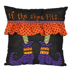 If the Shoe Fits Witch Pillow | Kirklands