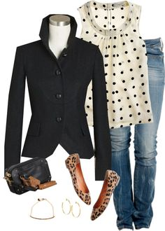 """bella, dots, leopard"" by shopwithm ❤ liked on Polyvore"