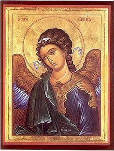 Gabriel is one of the seven archangels who stand before God's throne (Michael, Raphael, Uriel, Selathiel, Jegudiel, Barachiel, and Jeremiel). He revealed to Virgin Mary the birth of Jesus, to Zacharias the birth of John the Baptist, to Joachim and Anna the conception of Virgin Mary, and taught Moses to write the Book of Genesis. Because his name means 'man of God,' the Holy Fathers believe precisely he was sent to Virgin Mary to allude who would be born of her, the Man of God, the Man-God…