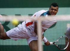 France's Jo-Wilfried Tsonga Hits