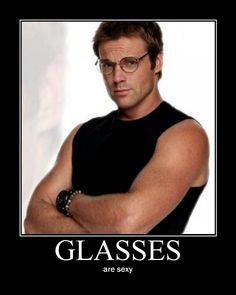 Michael Shanks - SG-1 - Dr. Daniel Jackson... He makes glasses sexy.  Ow!