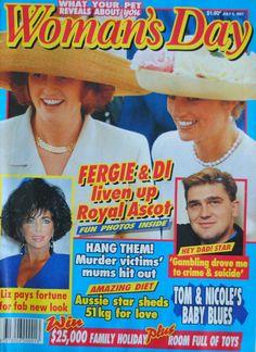 VINTAGE WOMAN'S DAY 9 JULY 1991 PRINCESSES DIANA (LADY DI) & SARAH (FERGIE)